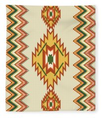 Native American Rug Fleece Blanket