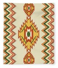 Native American Rug Fleece Blanket