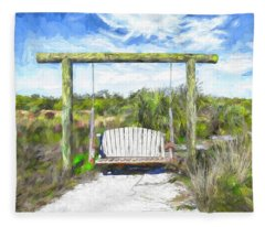 Nature Swing Fleece Blanket