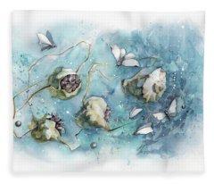 Nature's Fantasy Abstract Fleece Blanket