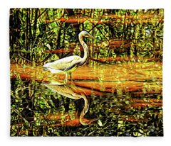 Nature's Mirror Fleece Blanket