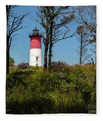 Nauset Lighthouse On The 4th Of July Fleece Blanket
