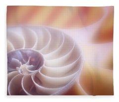 Chambered Nautilus Fleece Blankets