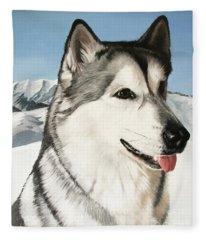 Nayuk Alaska Malamute Fleece Blanket