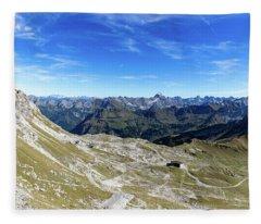 Nebelhorn Panorama Fleece Blanket