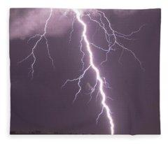 Nebraska Arcus And Lightning 046 Fleece Blanket