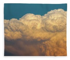 Nebraska Sunset Thunderheads 053 Fleece Blanket