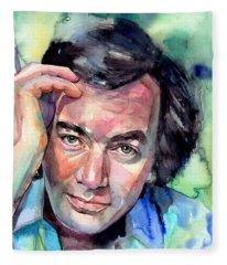 Neil Diamond Portrait I Fleece Blanket