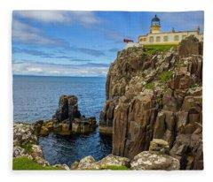 Neist Point Lighthouse Fleece Blanket