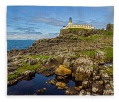 Neist Point Lighthouse No. 2 Fleece Blanket
