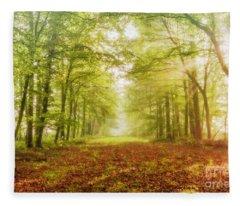 Neither Summer Nor Winter But Autumn Light Fleece Blanket