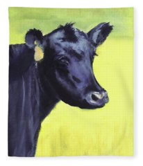 Nelson's Cow Fleece Blanket