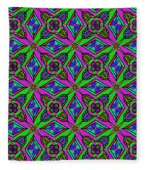 Neon Diamond Pattern Fleece Blanket