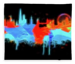 Neon London Fleece Blanket