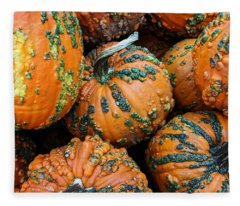 Nestled - Autumn Pumpkins Fleece Blanket