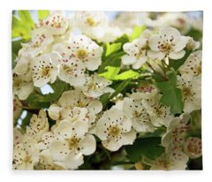 Neston.  Hawthorn Blossom. Fleece Blanket