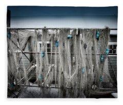 Nets Of Fishtown, Michigan Fleece Blanket