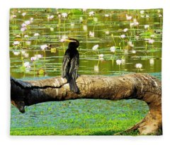 Never Mind The Crocodiles, Australasian Darter Fleece Blanket