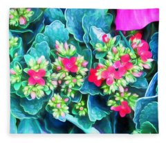 New Blooms Fleece Blanket