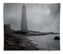 New Haven Lighthouse Fleece Blanket