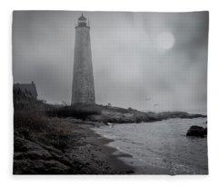 New Haven Lighthouse Fleece Blanket