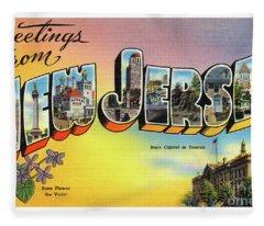 New Jersey Greetings - Version 2 Fleece Blanket