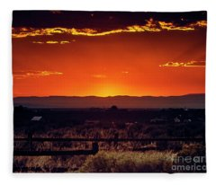 New Mexico Sunset Fleece Blanket