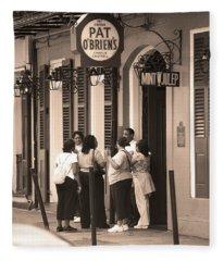 New Orleans Bourbon Street 2004 #44 Sepia Fleece Blanket
