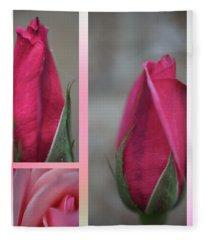 New Rose Fleece Blanket