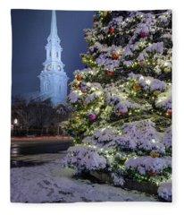 New Snow For Christmas Fleece Blanket