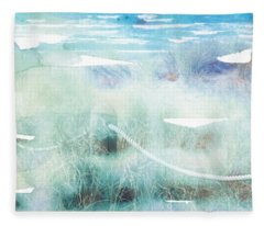 New Zealand Beachscape Fleece Blanket