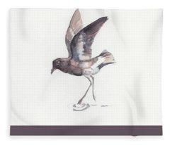 New Zealand Storm Petrel Fleece Blanket