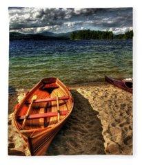 Newfound Lake Rowboat Fleece Blanket