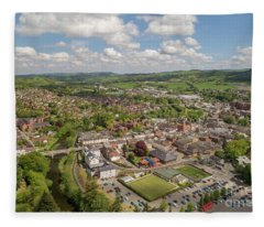 Newtown Powys Wales Fleece Blanket