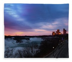 Niagara Falls At Sunrise Fleece Blanket