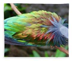 Nicobar Pigeon Fleece Blanket