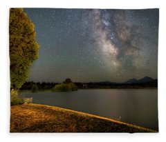 Night At Bbr Fleece Blanket