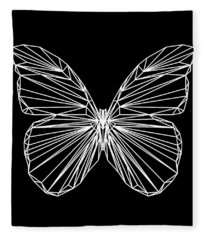 Night Batterfly Fleece Blanket