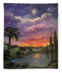 Night By Light Of Day Fleece Blanket