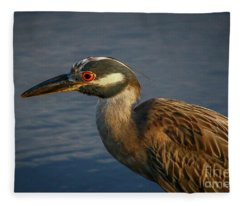 Night Heron Portrait Fleece Blanket