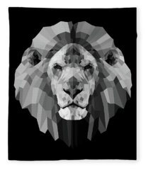 Night Lion Fleece Blanket