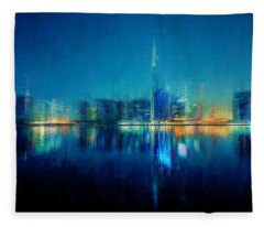 Night Of The City Fleece Blanket
