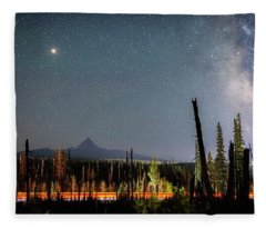 Night On Santiam Pass Fleece Blanket