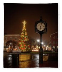 Night On The Square Fleece Blanket