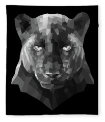 Night Panther Fleece Blanket