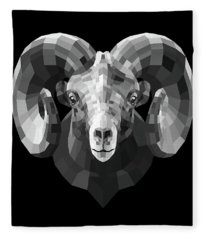 Night Ram Fleece Blanket