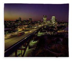 Nightfall In Milwaukee Fleece Blanket