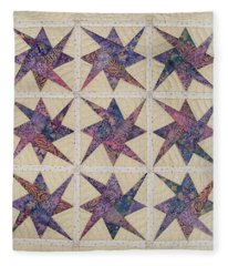 Nine Stars Dipping Their Toes In The Sea Sending Ripples To The Shore Fleece Blanket