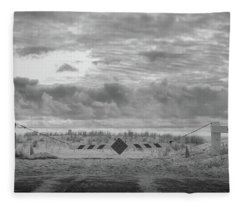 Fleece Blanket featuring the photograph No Vehicles by Steve Stanger