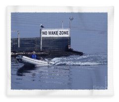 No Wake Zone Fleece Blanket